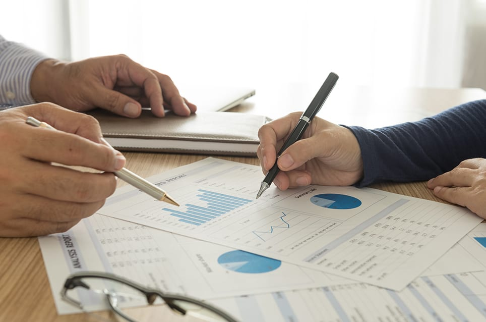 manager analyze financial numbers to view the performance of the company